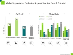 Market Segmentation Evaluation Segment Size And Growth Potential Ppt PowerPoint Presentation Model
