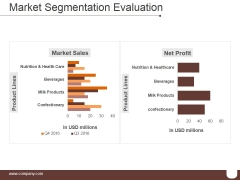 Market Segmentation Evaluation Template 1 Ppt PowerPoint Presentation Templates