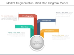 Market Segmentation Mind Map Diagram Model