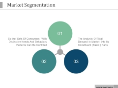 Market Segmentation Ppt PowerPoint Presentation Icon