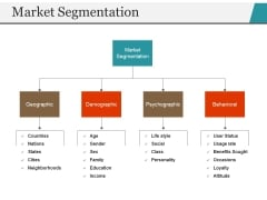Market Segmentation Ppt PowerPoint Presentation Ideas Styles