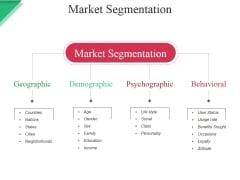Market Segmentation Ppt PowerPoint Presentation Infographic Template Layout