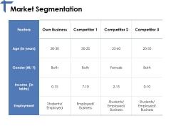 Market Segmentation Ppt PowerPoint Presentation Infographic Template Portrait