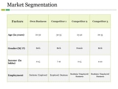 Market Segmentation Ppt PowerPoint Presentation Infographics Information
