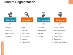 Market Segmentation Ppt PowerPoint Presentation Pictures Example
