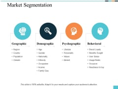 Market Segmentation Ppt PowerPoint Presentation Pictures Slideshow