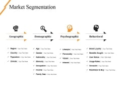 Market Segmentation Ppt PowerPoint Presentation Professional Slides