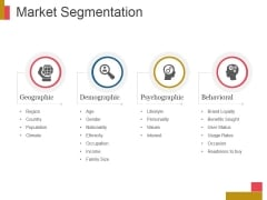 Market Segmentation Ppt PowerPoint Presentation Topics