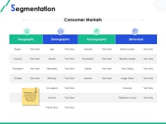 Market Segmentation Segmentation Ppt Show Icons PDF