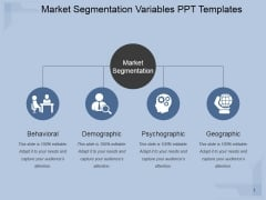 Market Segmentation Variables Ppt PowerPoint Presentation Themes