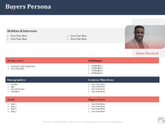 Market Share By Category Buyers Persona Ppt Show Mockup PDF
