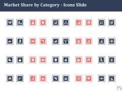 Market Share By Category Icons Slide Ppt Outline Brochure PDF