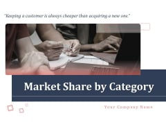 Market Share By Category Ppt PowerPoint Presentation Complete Deck With Slides
