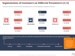 Market Share By Category Segmentation Of Customers On Different Parameters Age Ppt Infographics Gridlines PDF