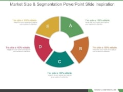 Market Size And Segmentation Powerpoint Slide Inspiration