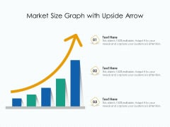 Market Size Chart With Upward Arrow Ppt PowerPoint Presentation Pictures Show PDF