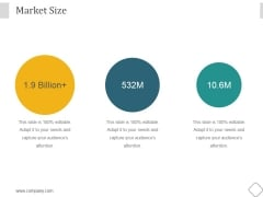 Market Size Ppt PowerPoint Presentation Visuals