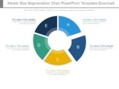 Market Size Segmentation Chart Powerpoint Templates Download