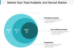 Market Size Total Available And Served Market Ppt PowerPoint Presentation Infographics Demonstration