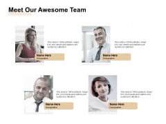 Market Sizing Meet Our Awesome Team Ppt Styles Information PDF