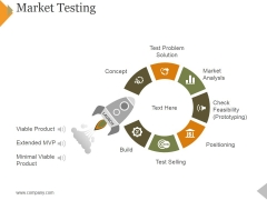 Market Testing Ppt PowerPoint Presentation Professional Model