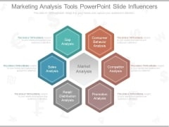 Marketing Analysis Tools Powerpoint Slide Influencers