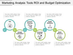 Marketing Analysis Tools Roi And Budget Optimization Ppt PowerPoint Presentation Icon Show
