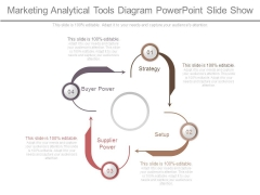 Marketing Analytical Tools Diagram Powerpoint Slide Show
