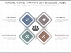 Marketing Analytics Powerpoint Slide Background Designs