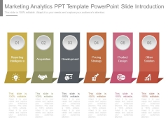 Marketing Analytics Ppt Template Powerpoint Slide Introduction