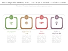 Marketing And Audience Development Ppt Powerpoint Slide Influencers