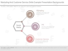 Marketing And Customer Service Skills Example Presentation Backgrounds