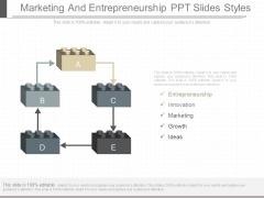 Marketing And Entrepreneurship Ppt Slides Styles