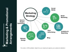 Marketing And Promotional Arrangements Ppt PowerPoint Presentation Icon Graphics