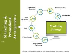 Marketing And Promotional Arrangements Ppt PowerPoint Presentation Model Aids