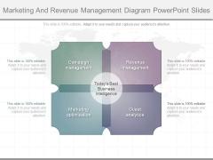 Marketing And Revenue Management Diagram Powerpoint Slides