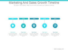 Marketing And Sales Growth Timeline Ppt PowerPoint Presentation Guidelines