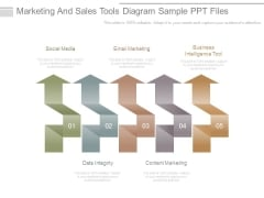 Marketing And Sales Tools Diagram Sample Ppt Files