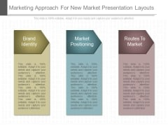 Marketing Approach For New Market Presentation Layouts