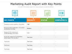 Marketing Audit Report With Key Points Ppt PowerPoint Presentation File Professional PDF