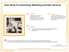 Marketing Automation Case Study For Automating Marketing Activities Services Topics PDF