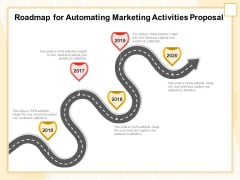 Marketing Automation Roadmap For Automating Marketing Activities Proposal Diagrams PDF