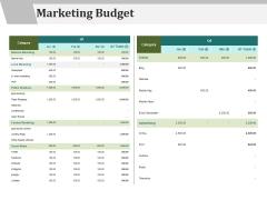 Marketing Budget Ppt PowerPoint Presentation Summary