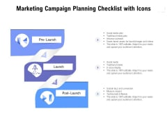 Marketing Campaign Planning Checklist With Icons Ppt PowerPoint Presentation Infographics Slide Portrait PDF