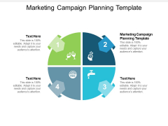 Marketing Campaign Planning Template Ppt PowerPoint Presentation Outline Deck Cpb