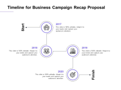 Marketing Campaign Timeline For Business Campaign Recap Proposal Mockup PDF