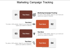 Marketing Campaign Tracking Ppt Powerpoint Presentation Slides Model Cpb