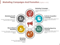 Marketing Campaigns And Promotion Template 1 Ppt PowerPoint Presentation Professional Design Ideas
