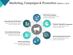 Marketing Campaigns And Promotion Template 1 Ppt PowerPoint Presentation Slides Graphics Pictures