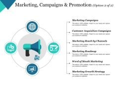 Marketing Campaigns And Promotion Template 2 Ppt PowerPoint Presentation Inspiration Graphics